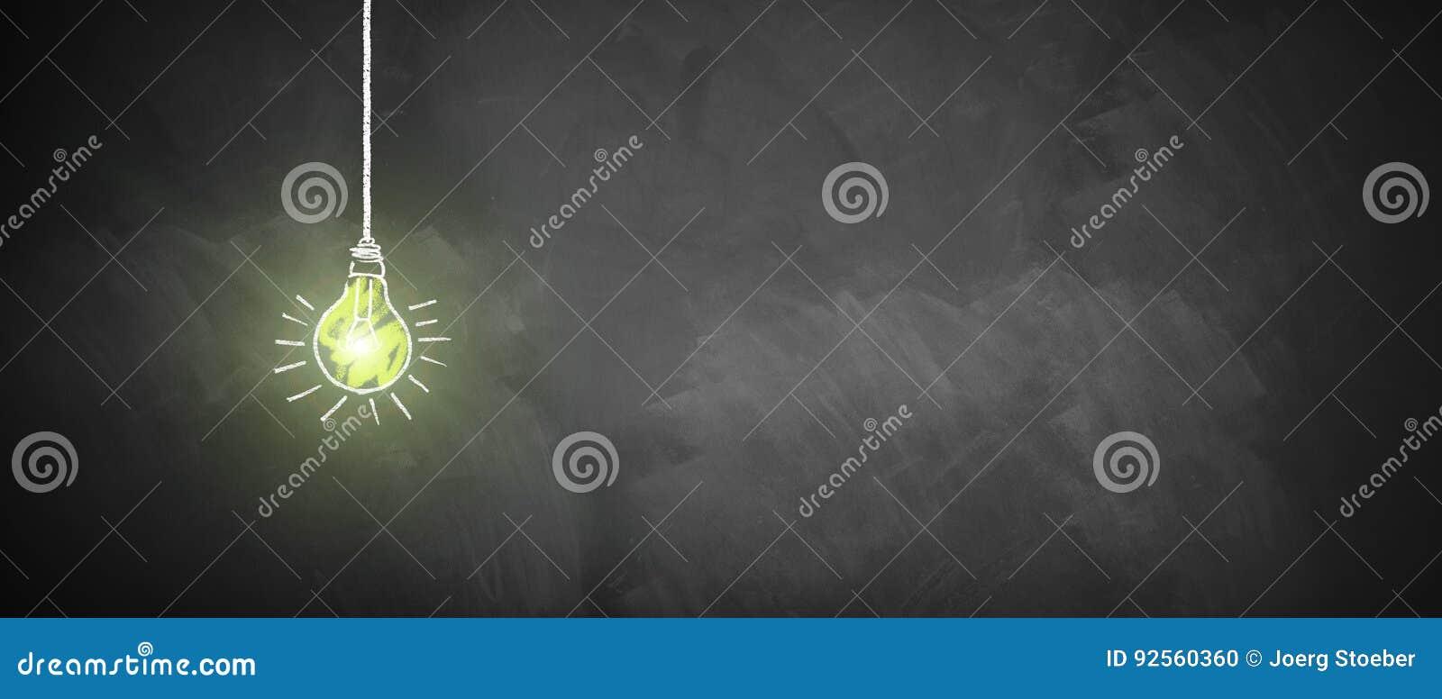 Ampoule brillante de craie