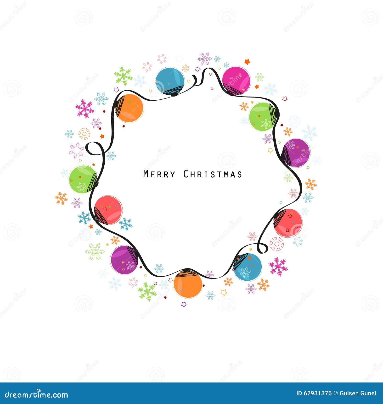 ampoule colore de nol avec la carte de voeux de bonne anne de flocons de neige - Ampoule Colore