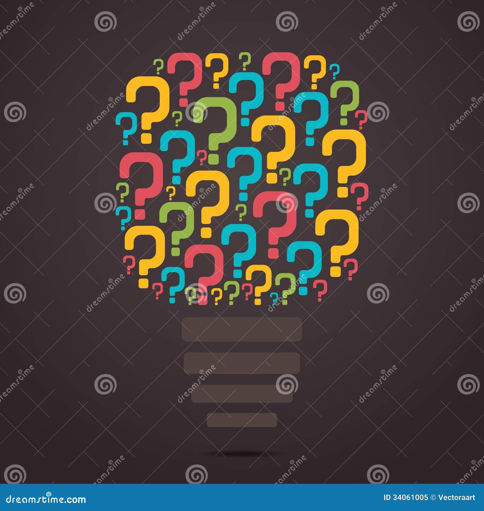 ampoule colore de point d interrogation - Ampoule Colore