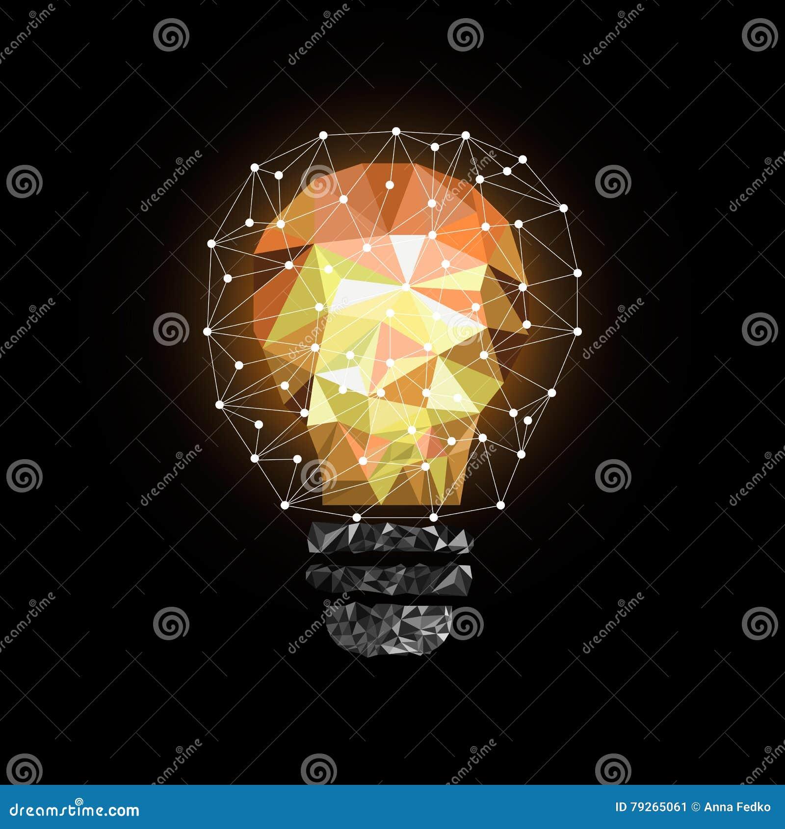 Ampoule De Bas Poly Style Illustration Abstraite De Vecteur Sur Le