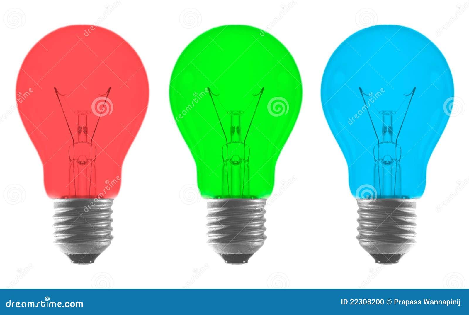 ampoule de couleur vert bleu rouge photo stock image. Black Bedroom Furniture Sets. Home Design Ideas