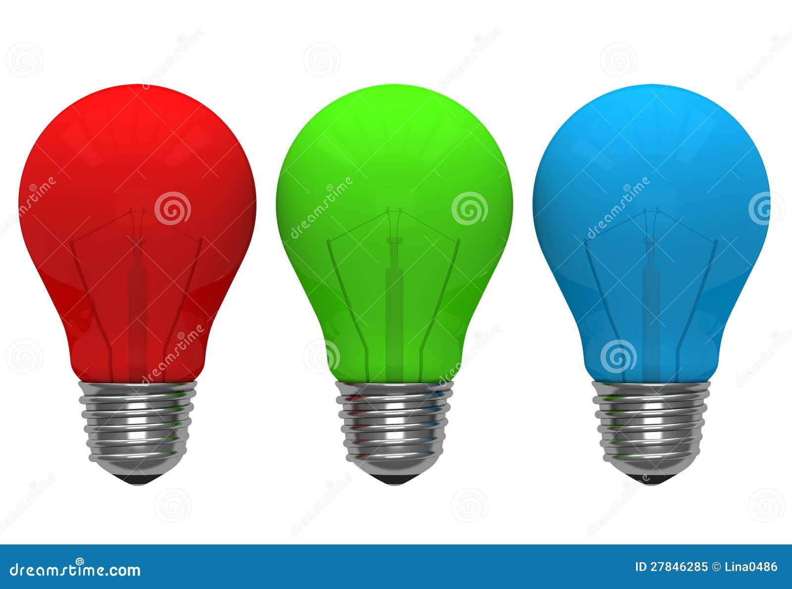 ampoule de couleur vert bleu rouge photo libre de droits image 27846285. Black Bedroom Furniture Sets. Home Design Ideas
