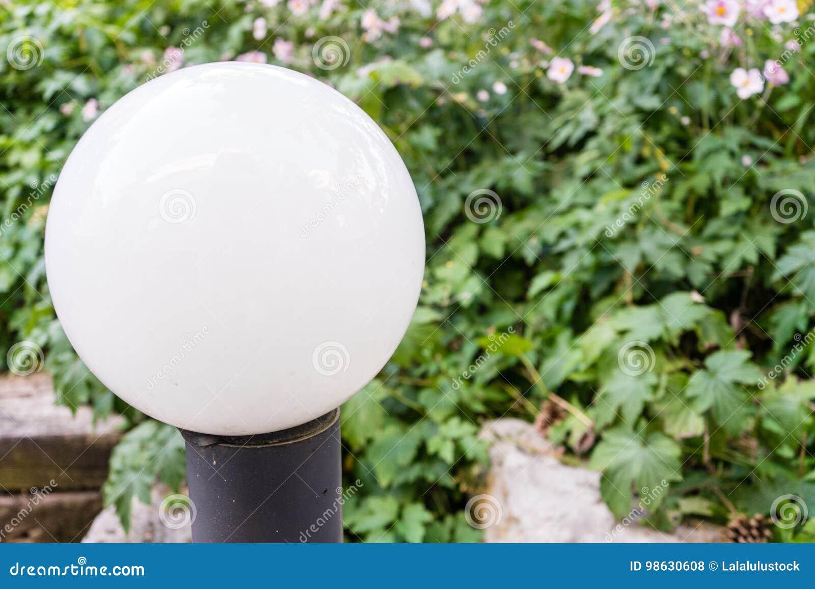Ampoule de réverbère de vintage avec l usine dans le dos