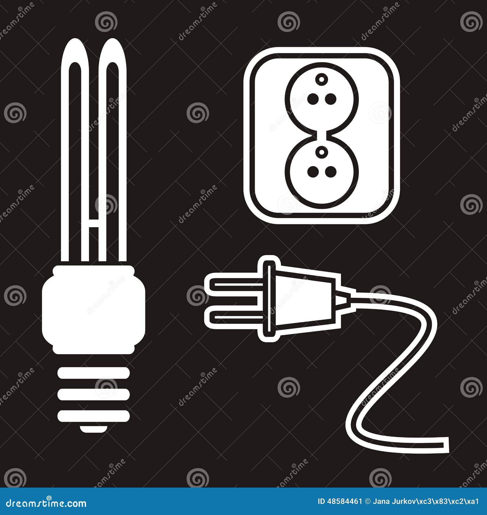 ampoule prise prise illustration de vecteur illustration du conception 48584461. Black Bedroom Furniture Sets. Home Design Ideas