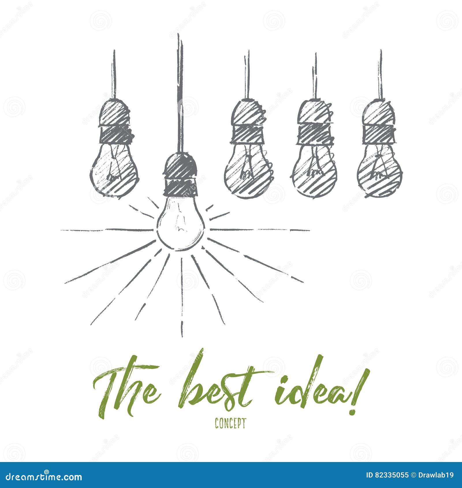 Ampoules accrochantes tirées par la main avec on brillant