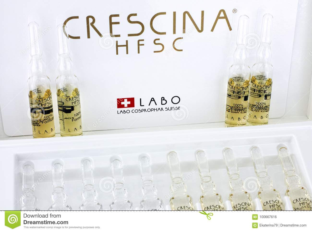 Ampoules Of Crescina HFSC Re-Growth In Crescina Treatment