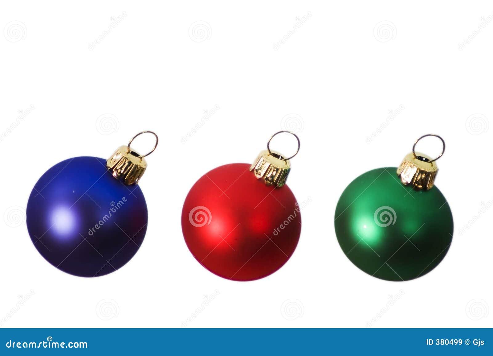 Ampoules rouges, bleues et vertes de Noël