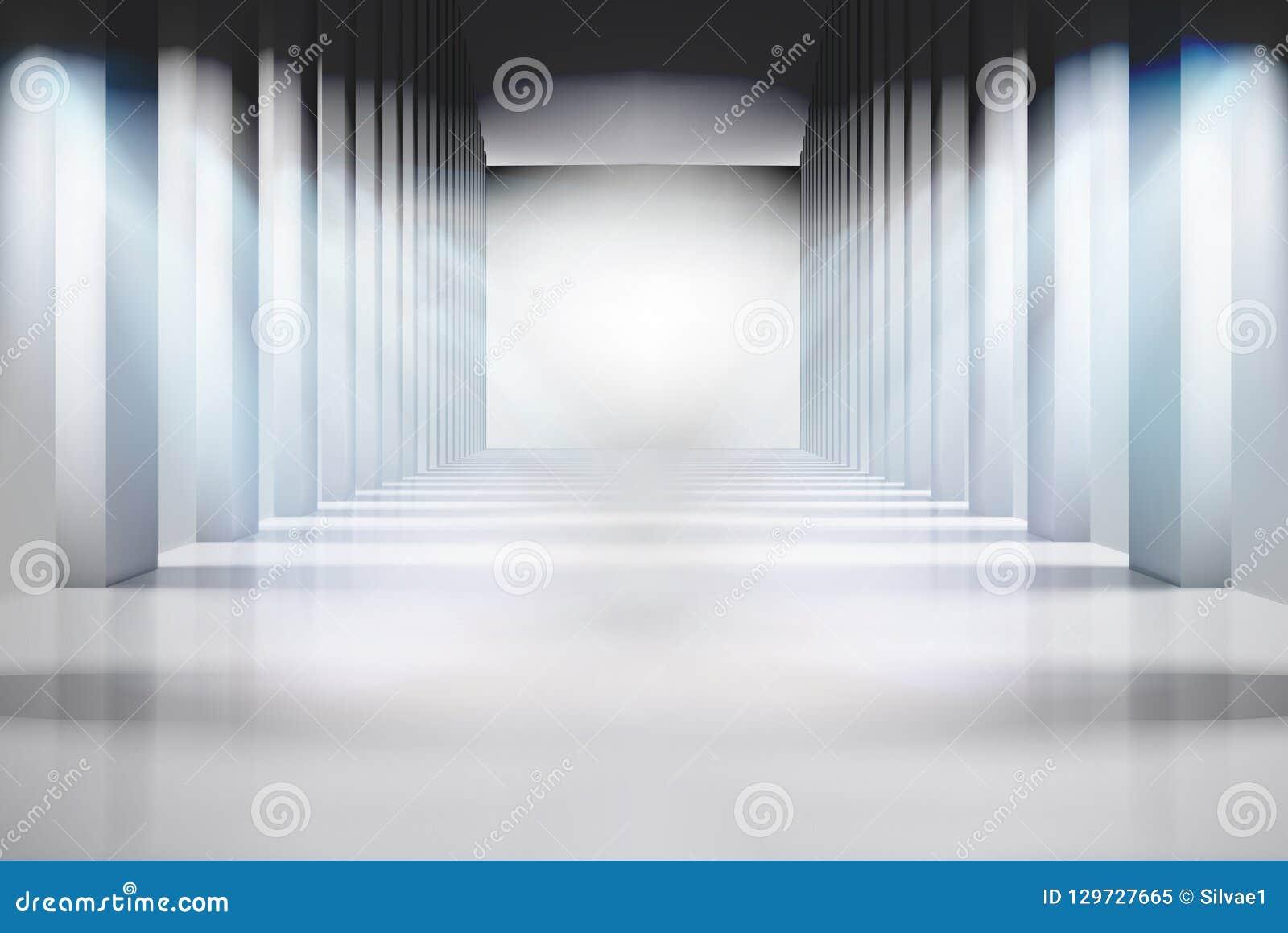Ampuła iluminujący pokój pusty wnętrze również zwrócić corel ilustracji wektora