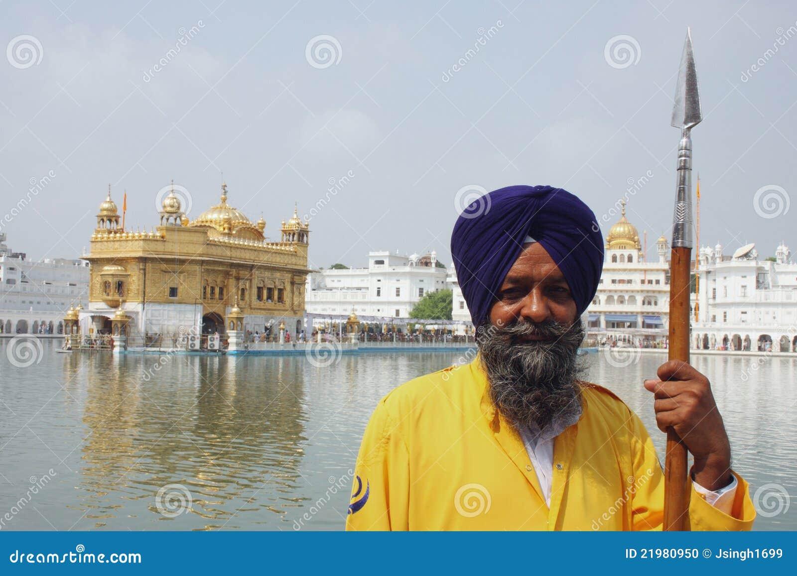 Amritsar zbliżenia złota strażowa świątynia
