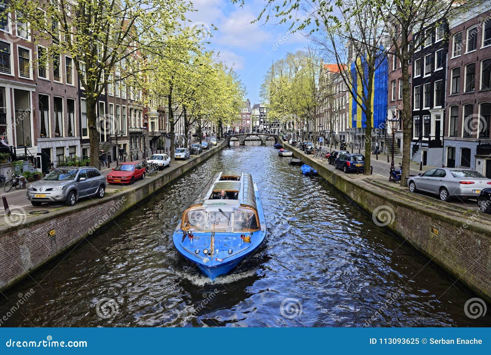 Amsterdam łodzi kanał