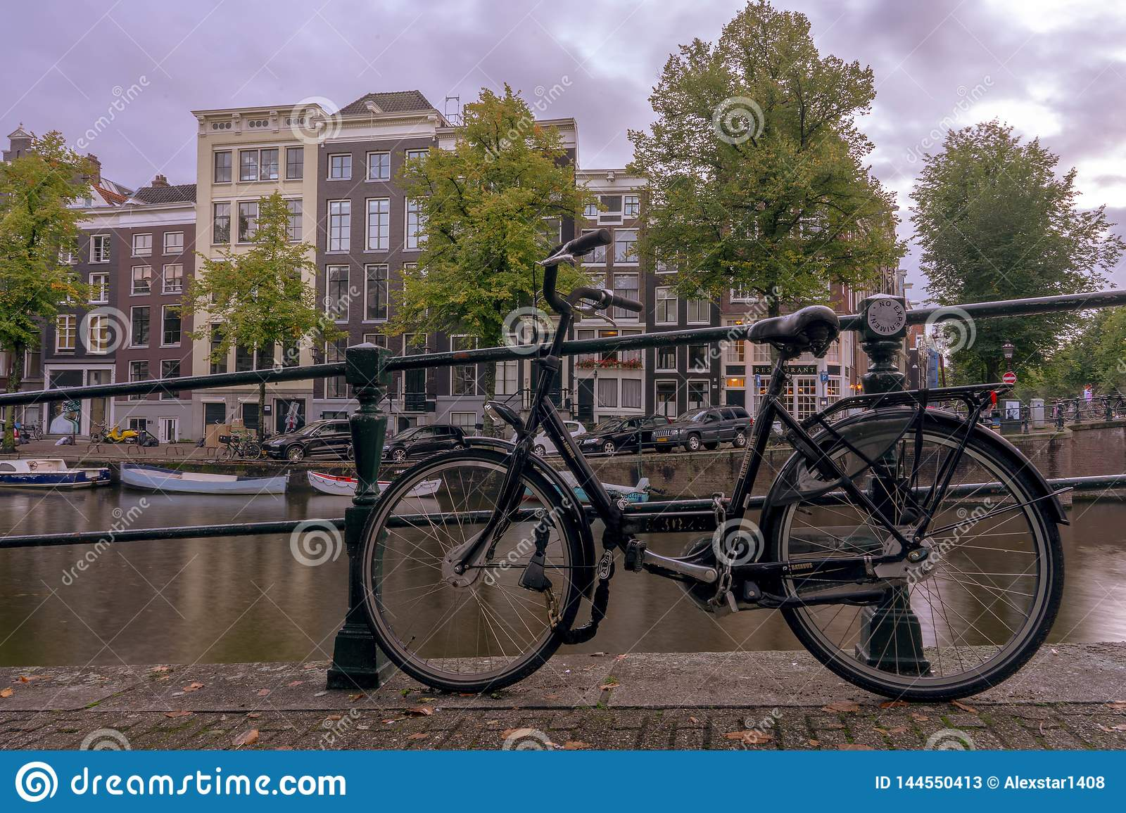 Amsterdam bike on the canal