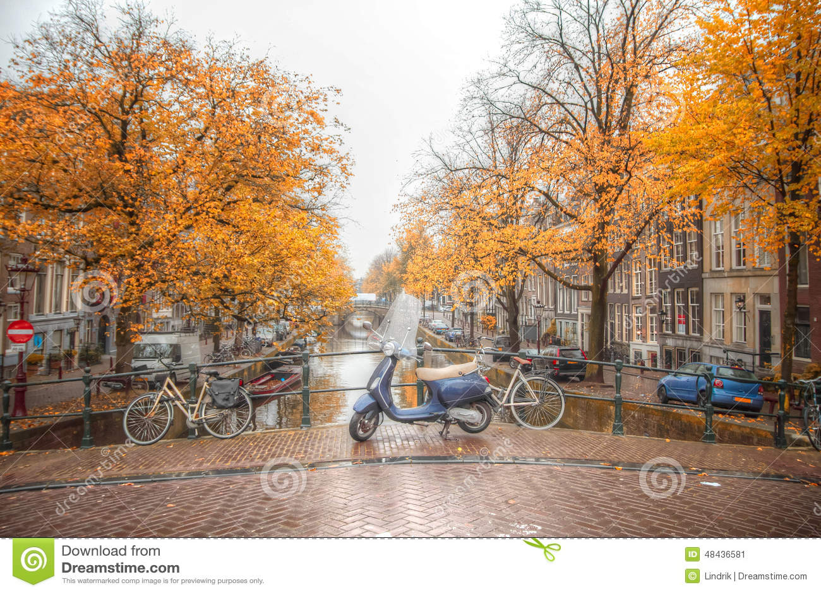 Amsterdam Autumn Stock Photo Image 48436581
