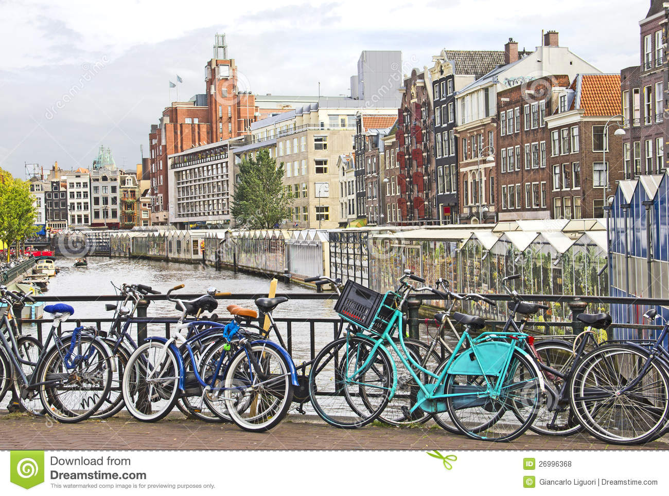 Bikes In Amsterdam Canals Amsterdam canal and bikes