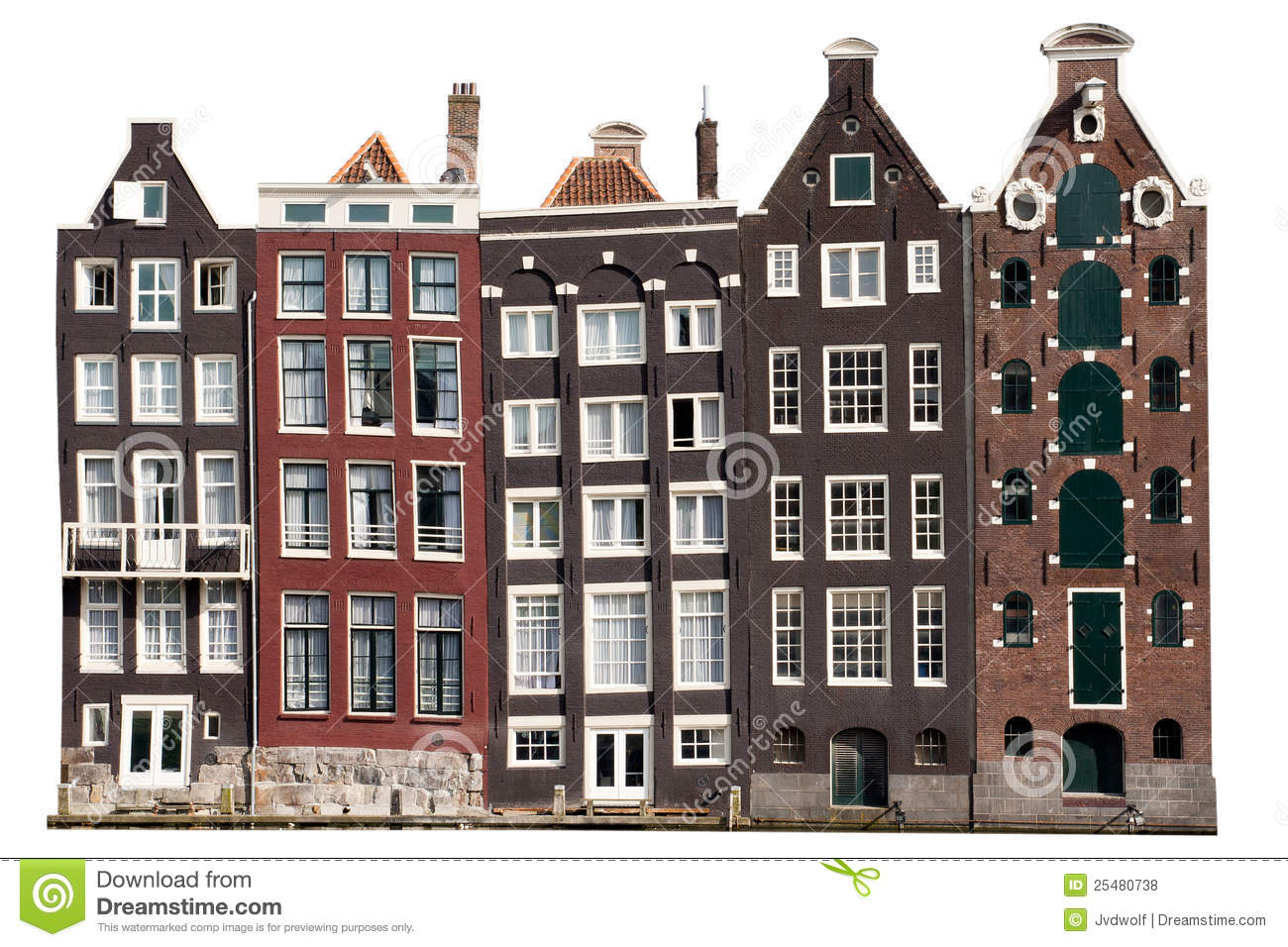 Amsterdam Canal Houses Stock Photo Image Of Architecture
