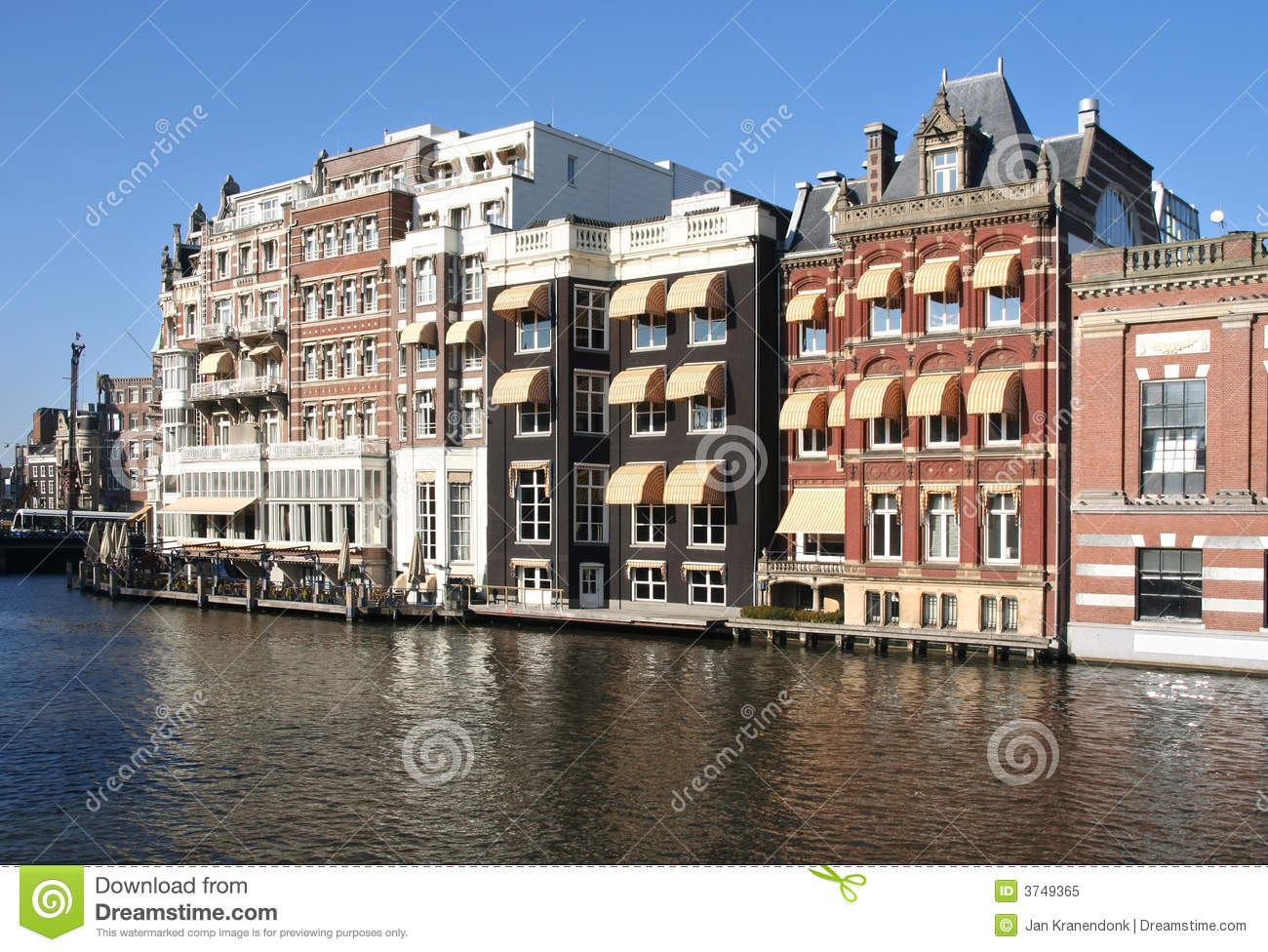 Amsterdam Canal Houses Royalty Free Stock Photo Image