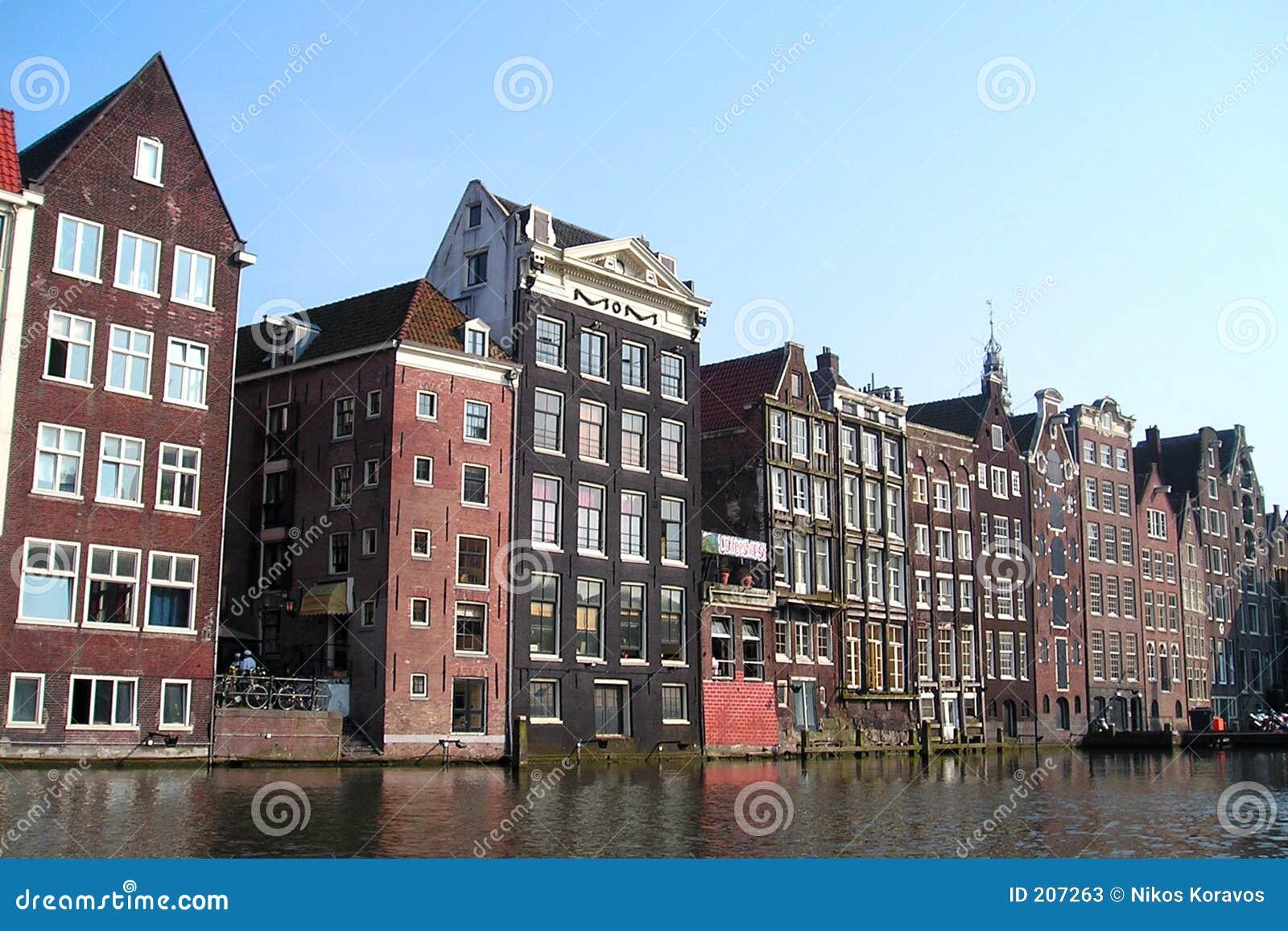Amsterdam domy.