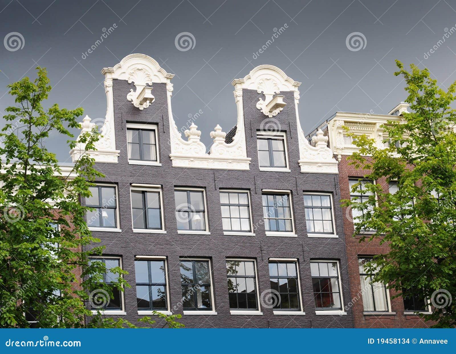 Amsterdam Dutch Gable House Stock Images Image 19458134
