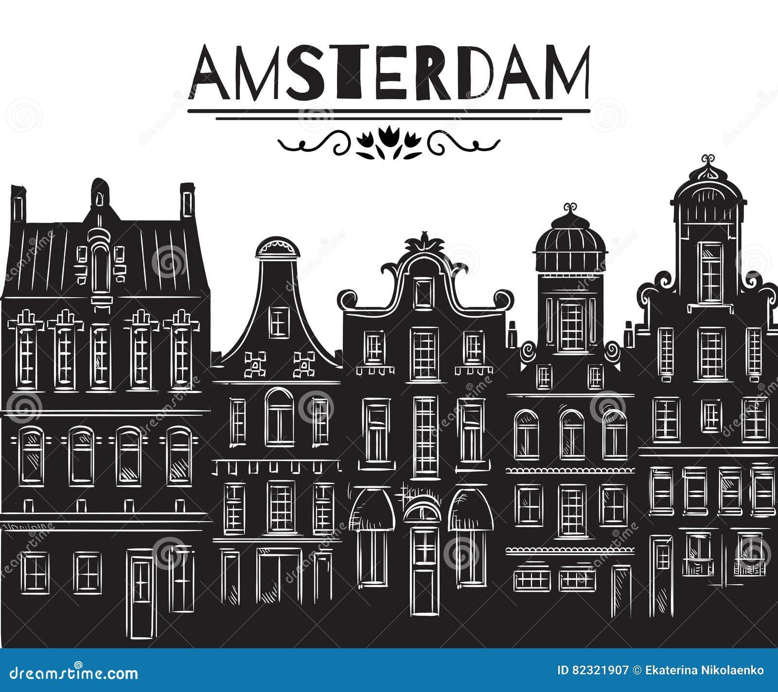 Amsterdam Edificios históricos viejos y arquitectura tradicional de Países Bajos