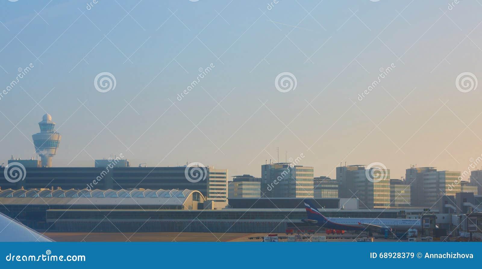 Amsterdam-Flughafen Schiphol in den Niederlanden