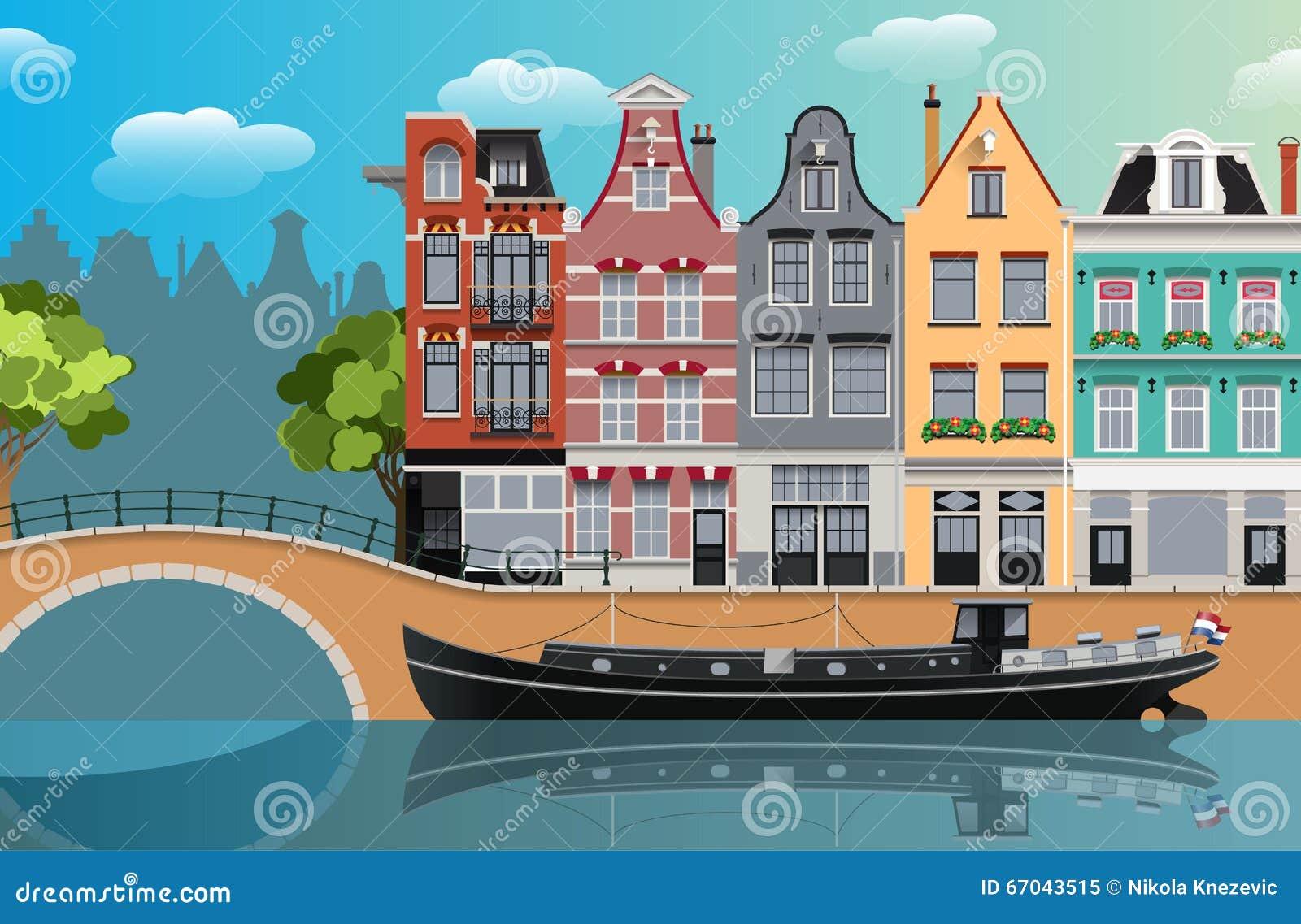 Amsterdam-Kanallandschaft