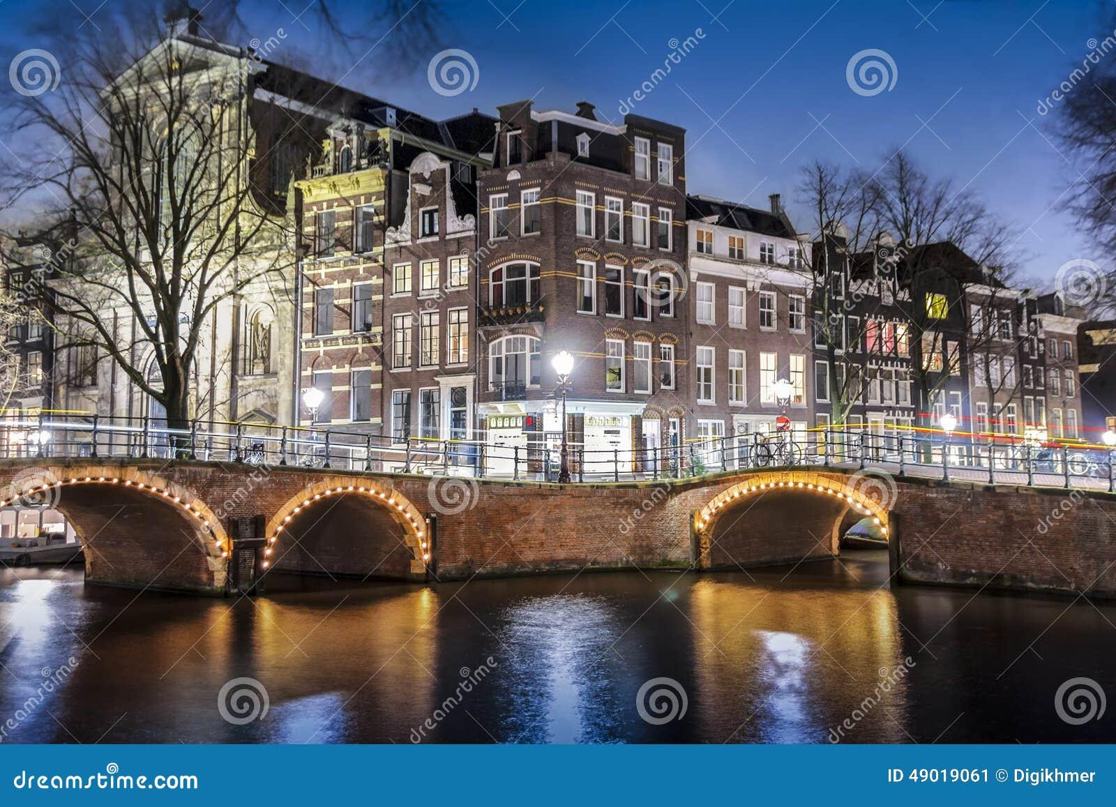 Amsterdam nachts, Singel-Kanal