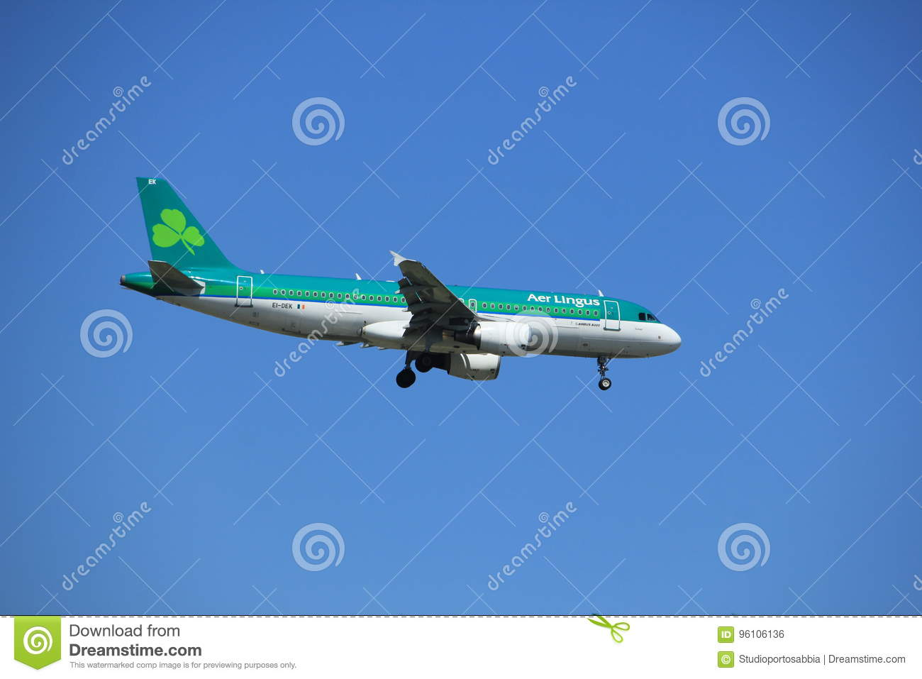 Amsterdam the Netherlands - July 9th 2017: EI-DEK Aer Lingus Airbus A320-214