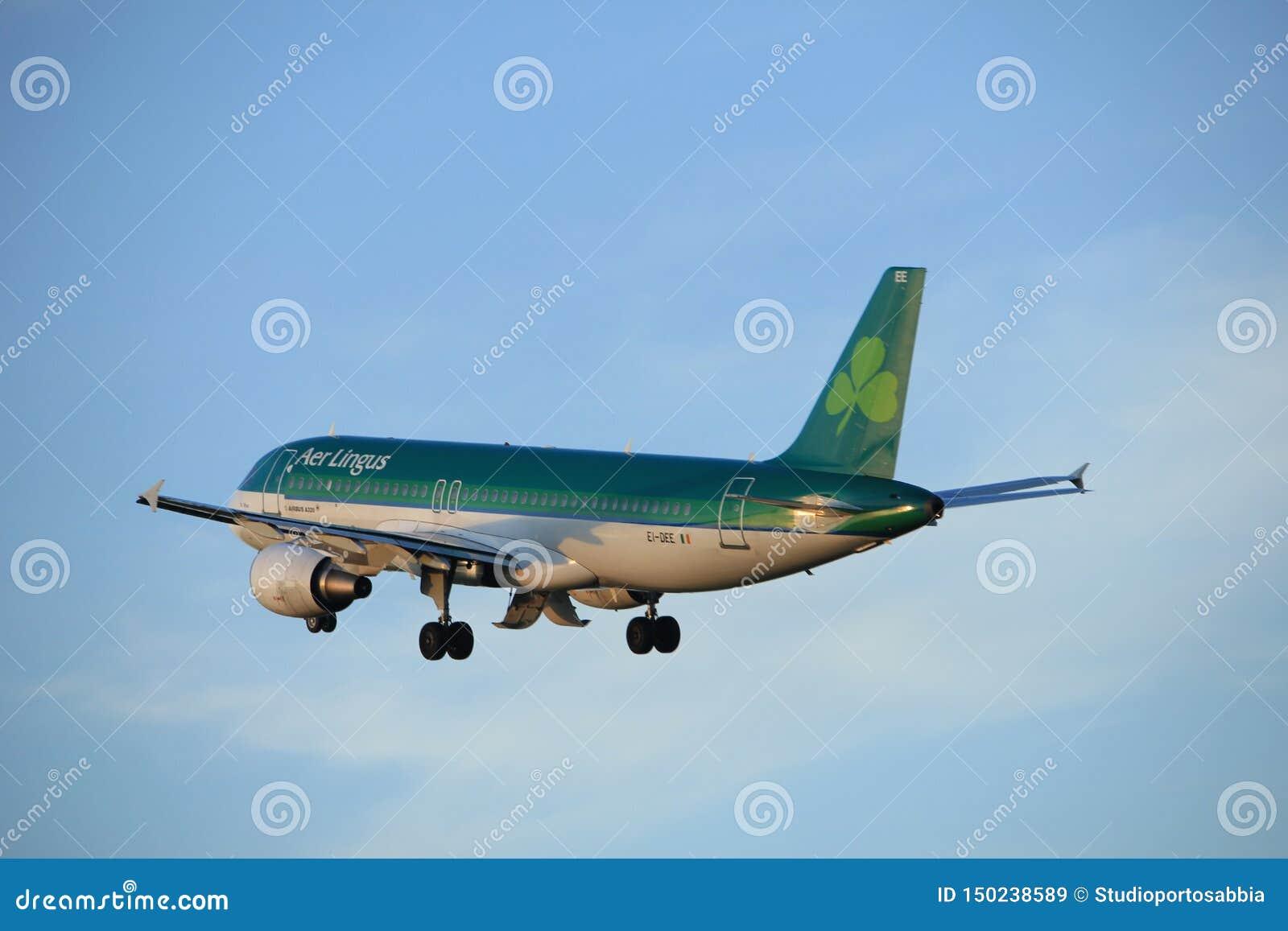 Amsterdam, the Netherlands  - June 1st, 2017: EI-DEE Aer Lingus Airbus