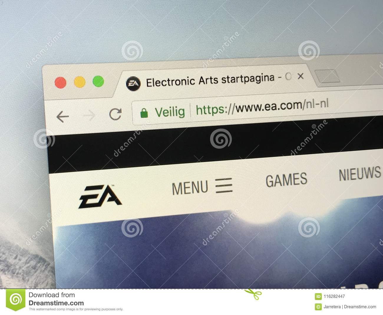 Website Of Electronic Arts Inc, EA Editorial Photography - Image of editorial, site: 116282447