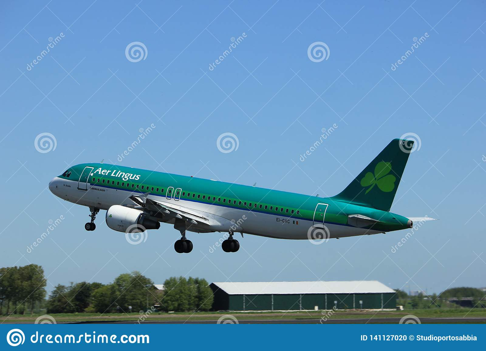 Amsterdam the Netherlands - May 4th 2018: EI-CVC Aer Lingus Airbus