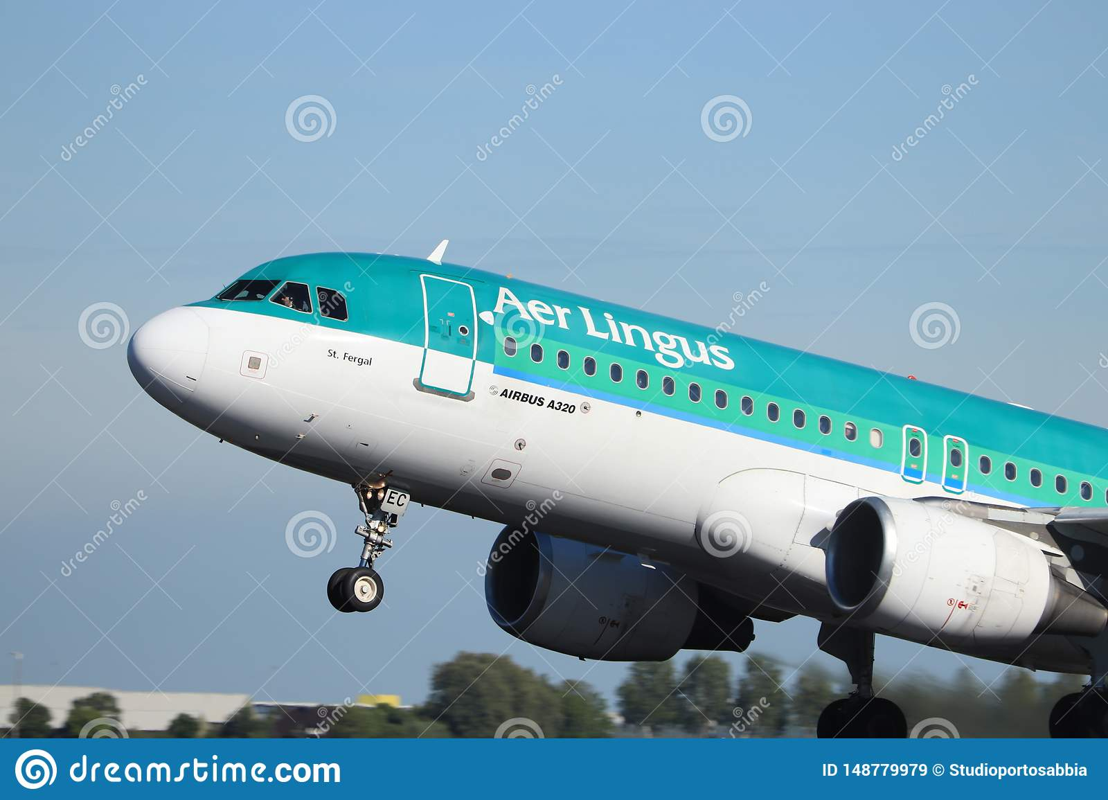 Amsterdam the Netherlands - May 24th, 2019: EI-DEC Aer Lingus Airbus A320-200