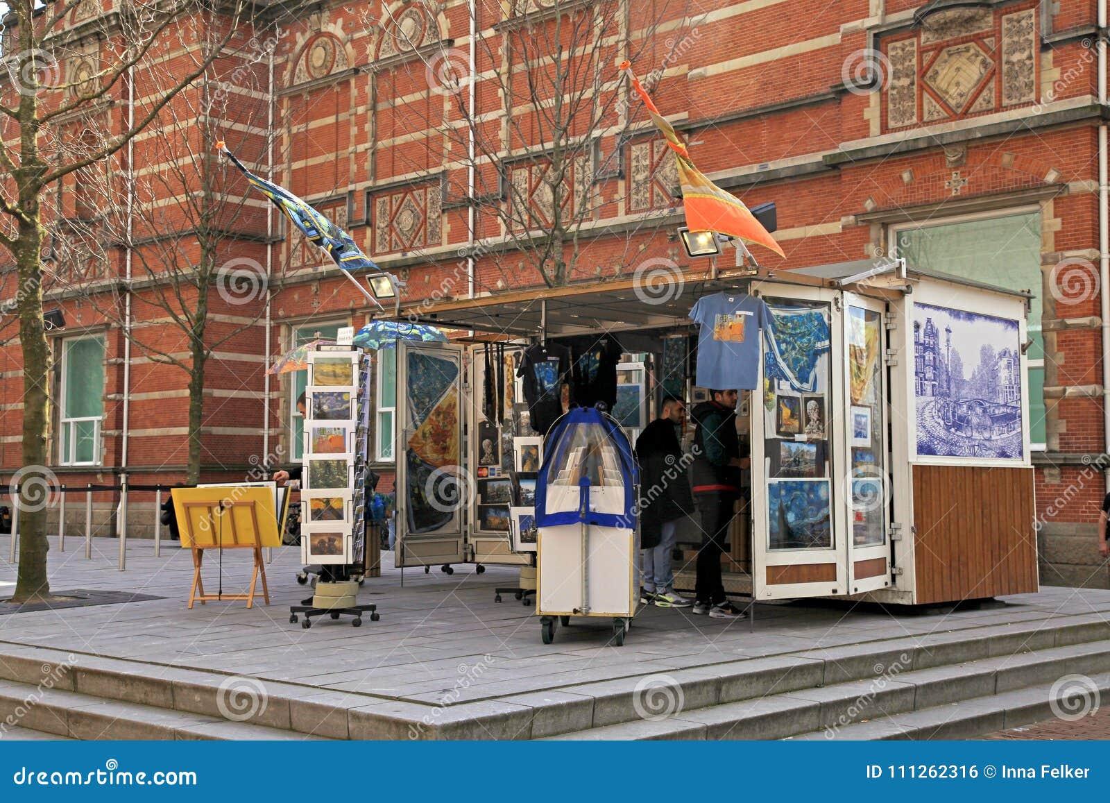Souvenir shop in museum district, Amsterdam, Netherlands.