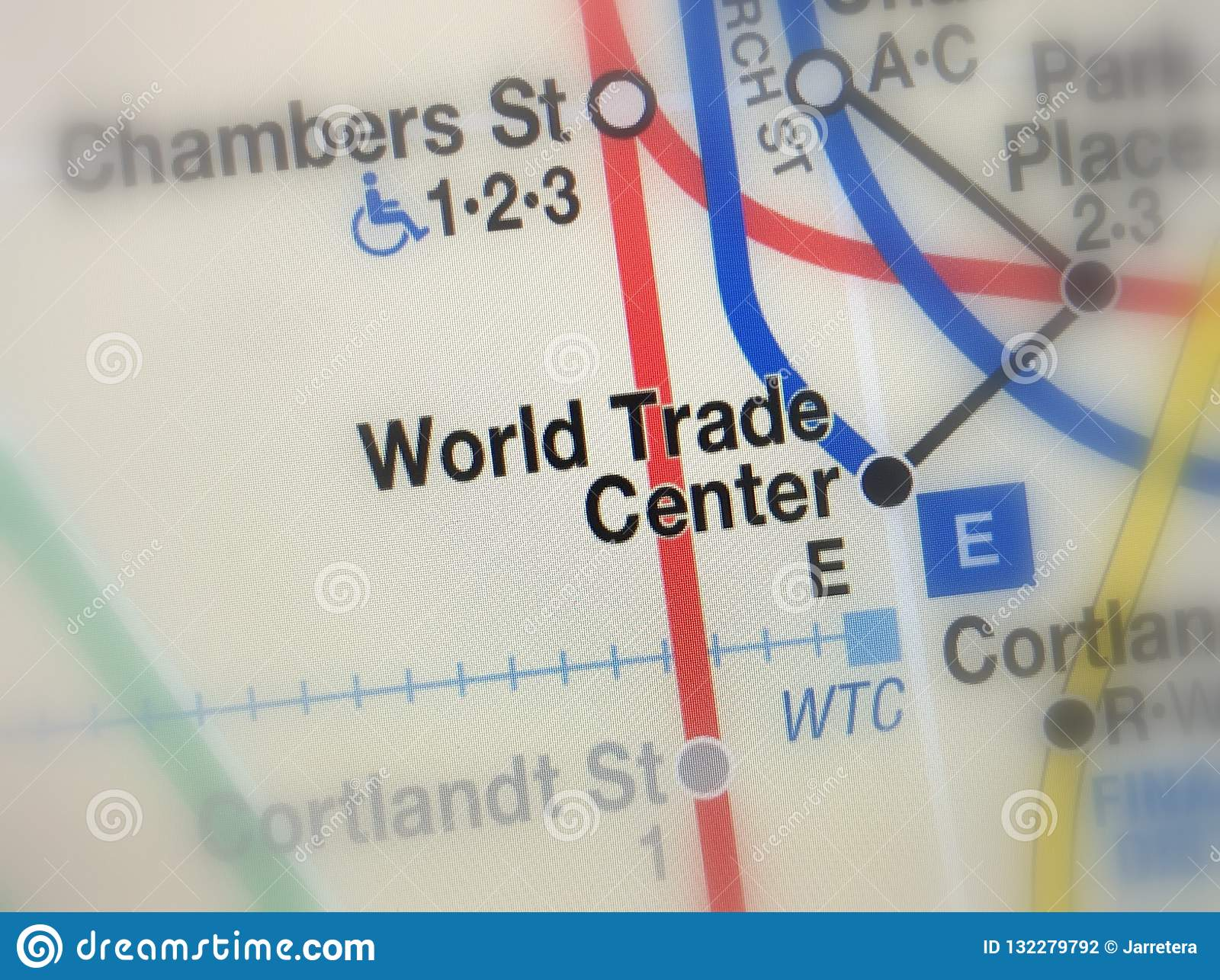Subway Map Nyc Centre Street.Map Of World Trade Center Metro Station Editorial Photography