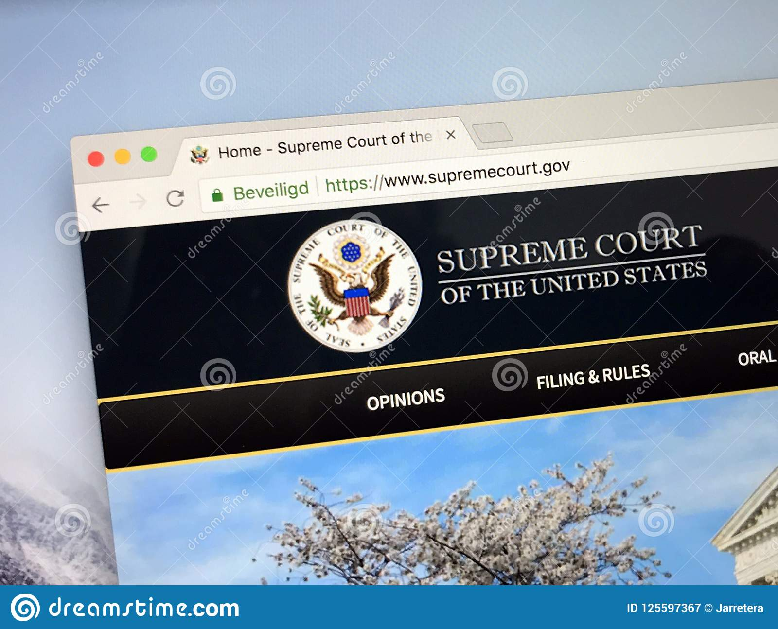 website of the supreme court of the u s editorial photography