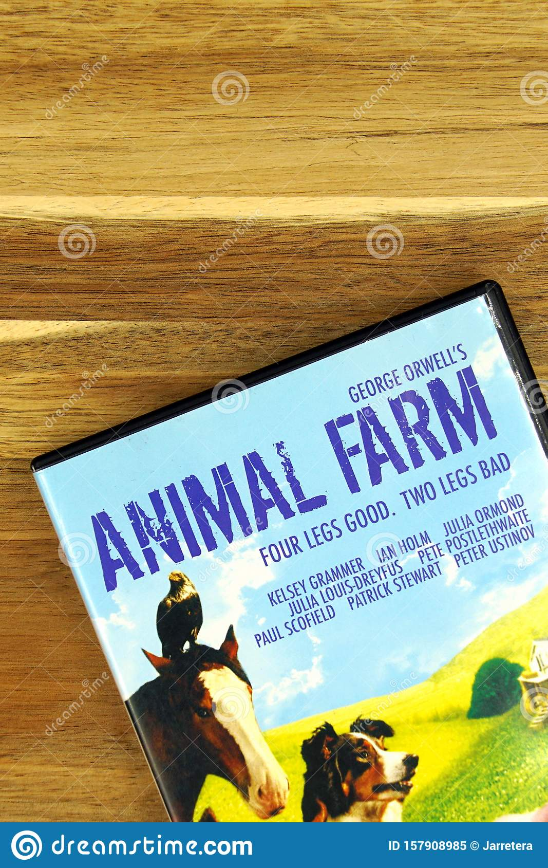 Part Of A Dvd Movie Cover Animal Farm Editorial Image Image Of Movie George 157908985