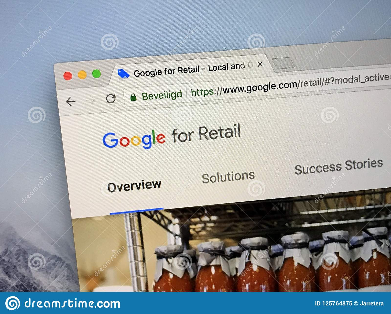 Homepage Of Google For Retail Editorial Image - Image of screen