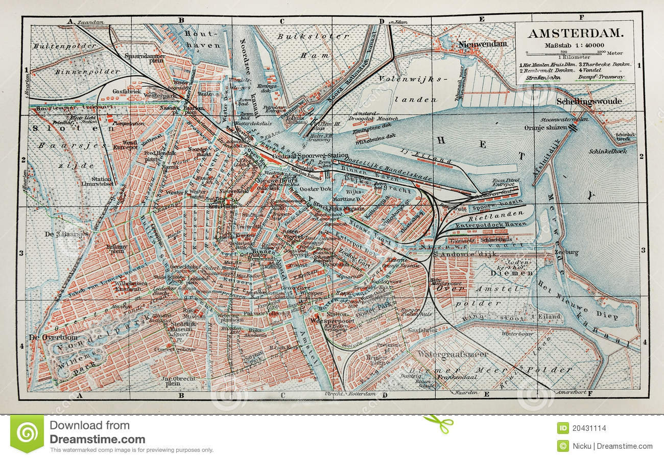 Old paris street map royalty free stock photo image 15885665 - Amsterdam Old Map Stock Images