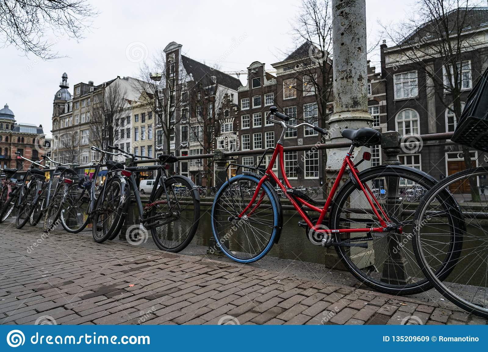 Amsterdam a red bicycle