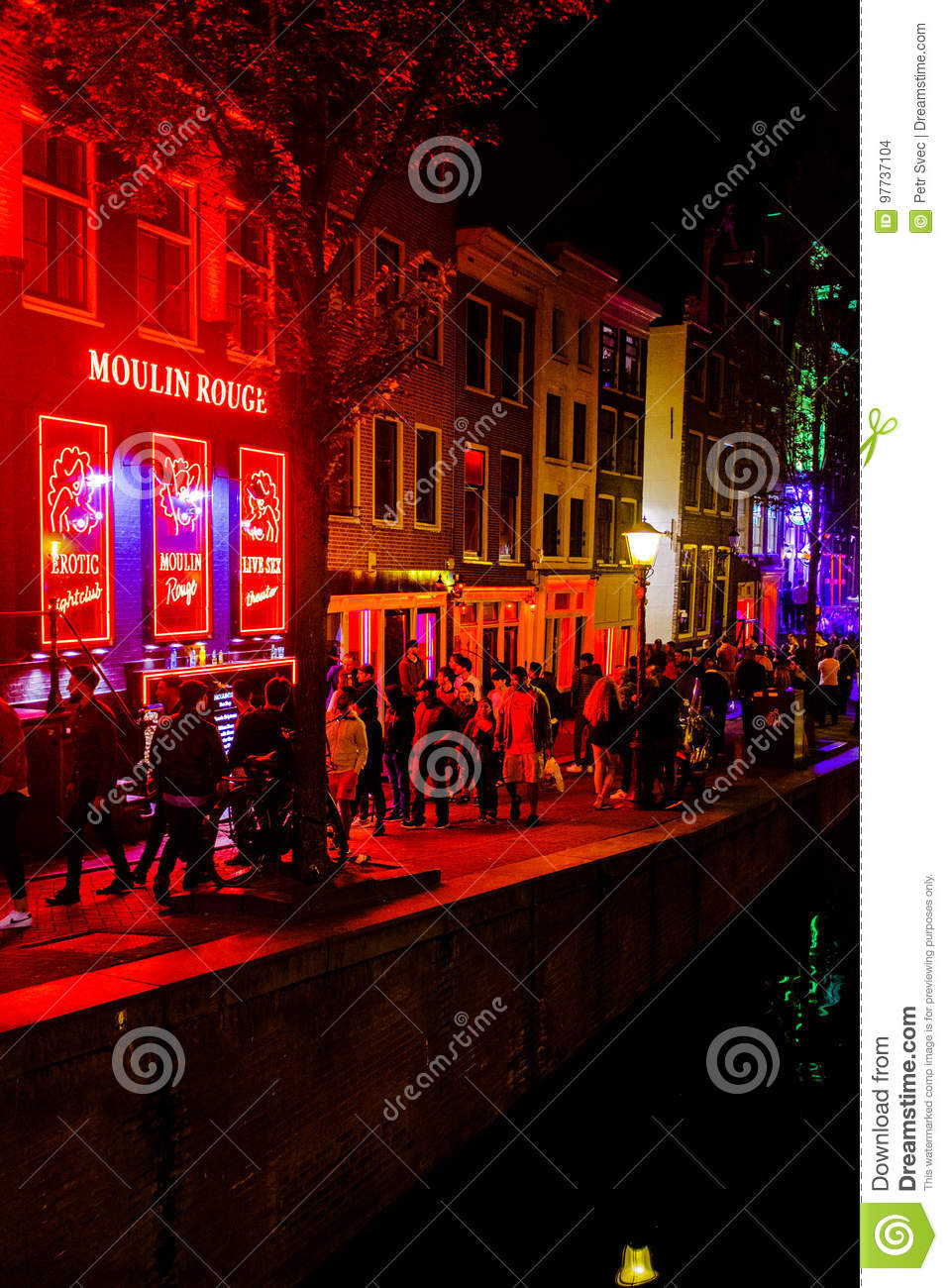 Amsterdam red light district editorial stock image image of canal one of the canal streets with bars and shops in the famous red light district in downtown amsterdam netherlands aloadofball Image collections