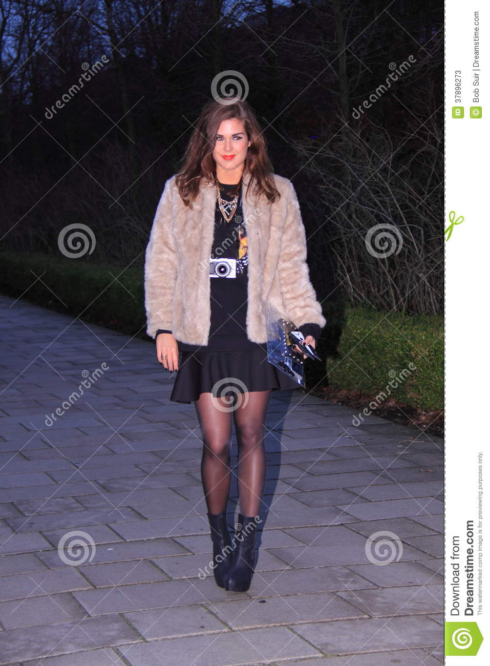 Amsterdam Street Style Fashion Editorial Stock Photo Image 37896273