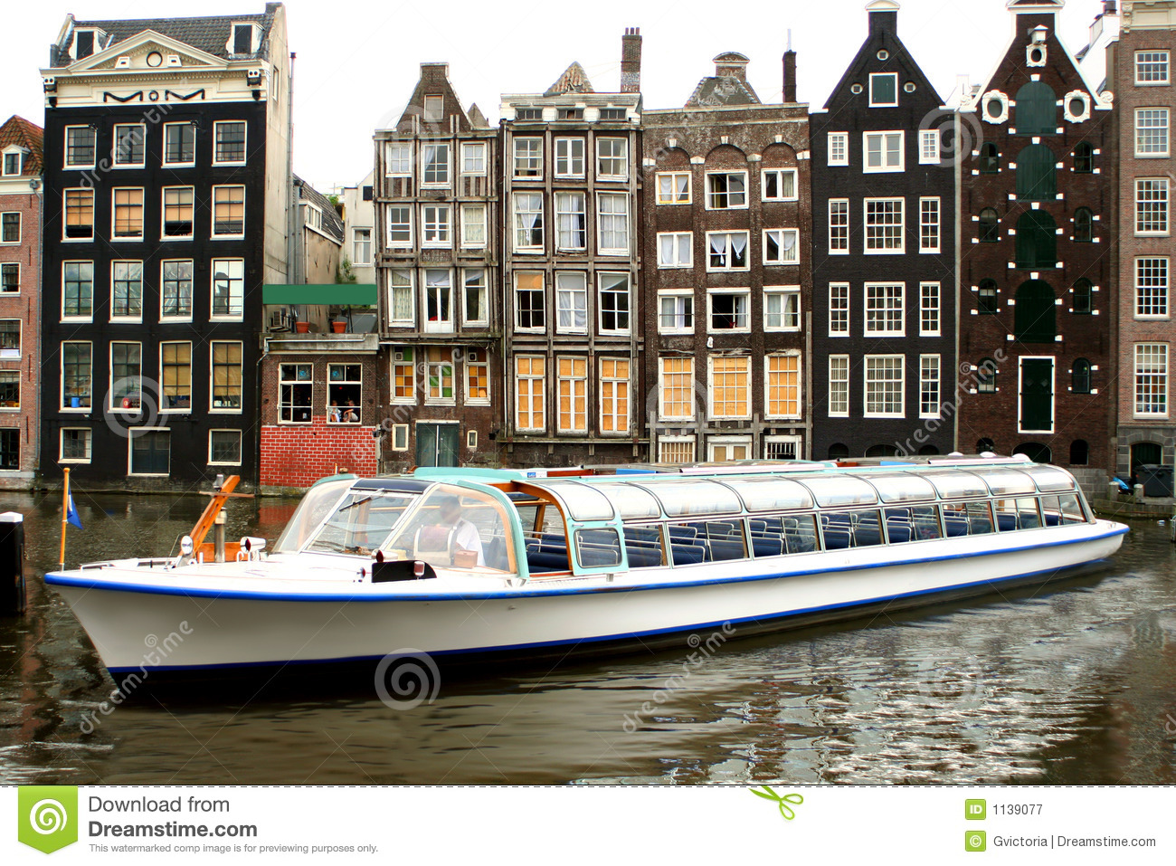 Amsterdam tourism stock image. Image of dutch, floating - 1139077