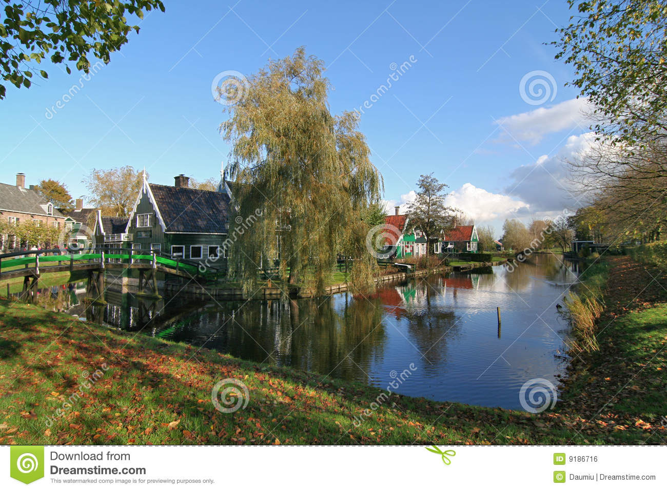 Amsterdam Village Landscape Stock Photo Image 9186716
