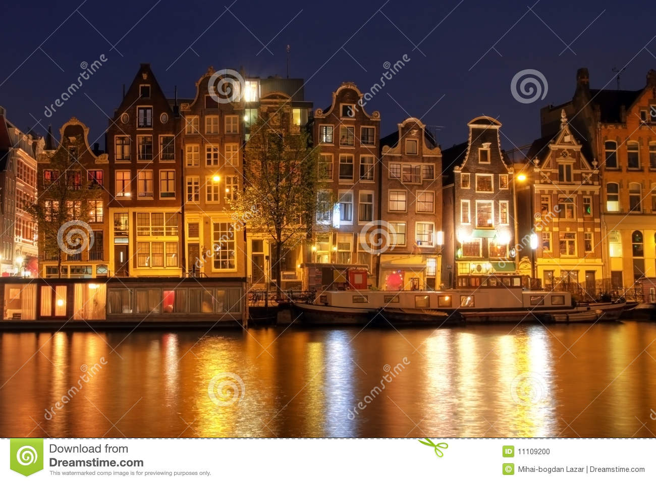 Amsterdam Waterfront Houses The Netherlands Stock Photo