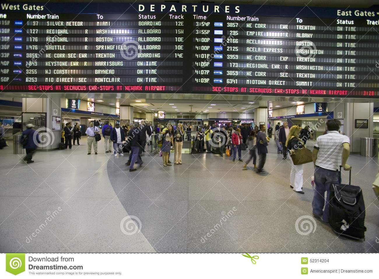 Amtrak phone number penn station - Editorial Stock Photo