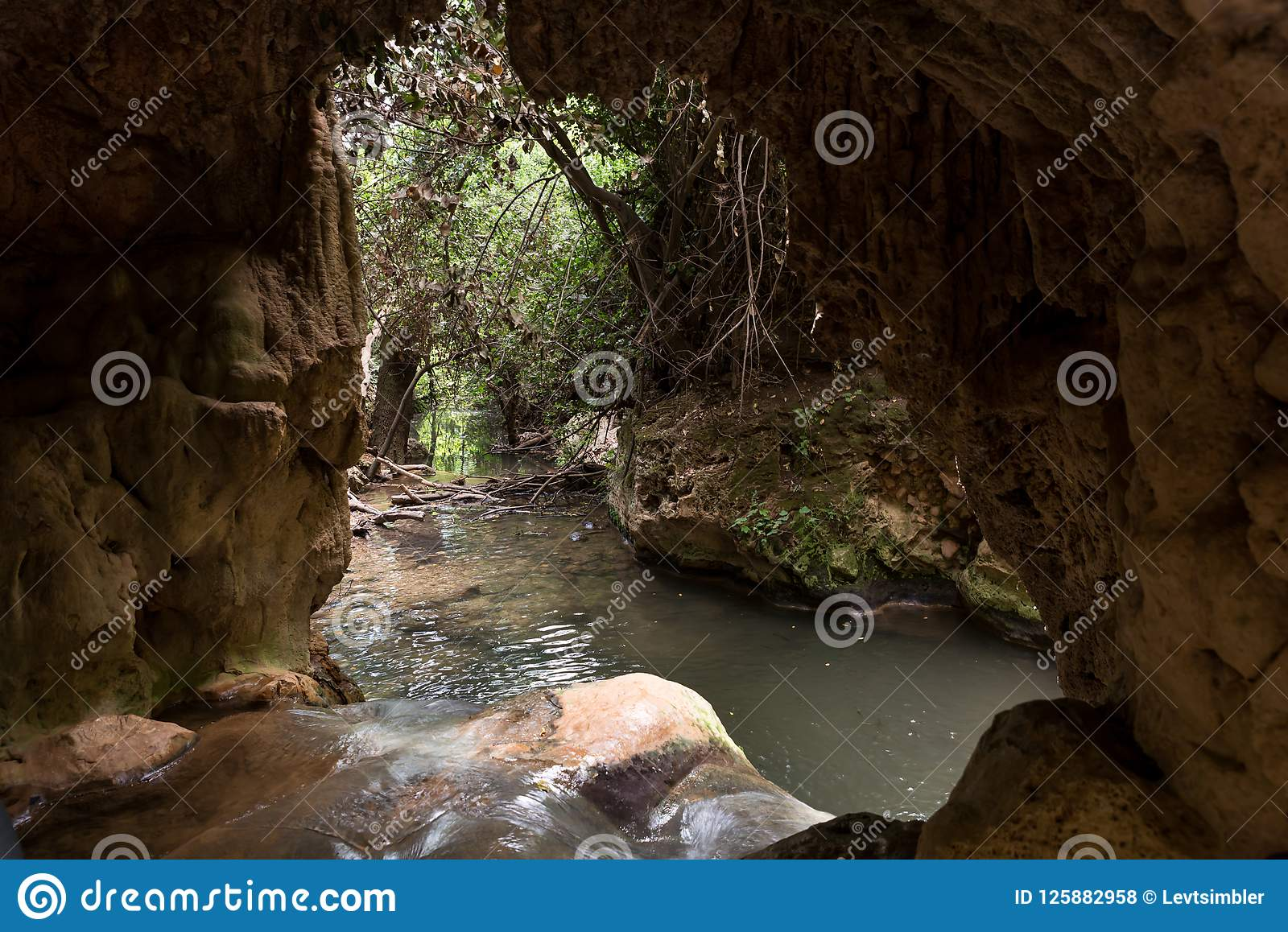 Amud amud stream nature reserve in northern israel stock photo - image of