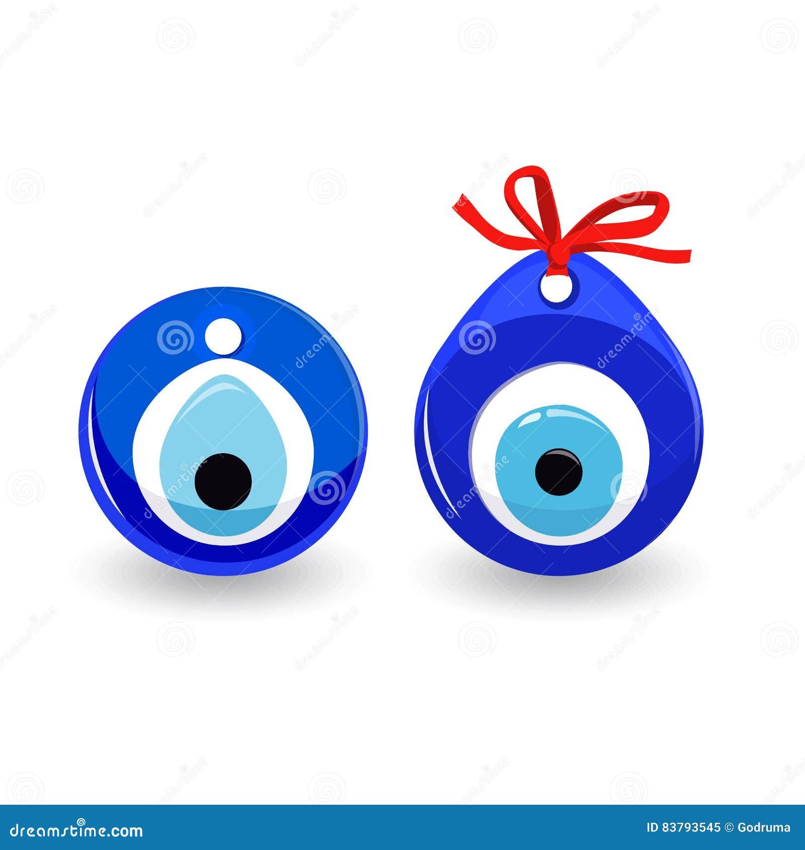 Amulet Evil Eye Protective Talisman Stock Vector Illustration Of
