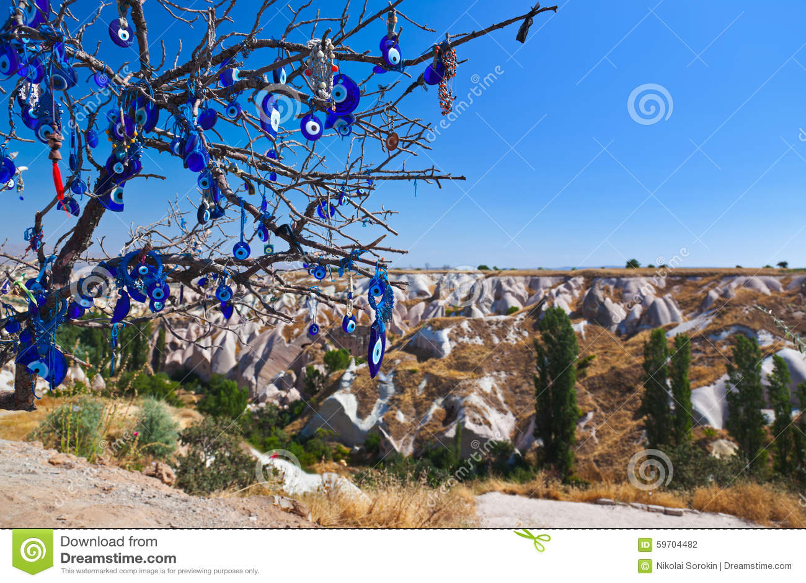 Amulett des Baums und des schlechten Auges in Cappadocia die Türkei