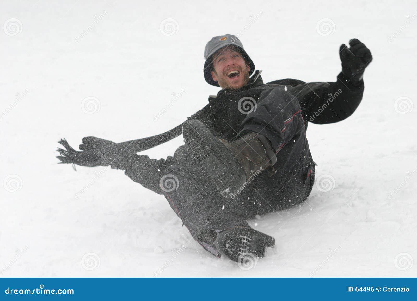 Download Amusement dans la neige photo stock. Image du homme, couche - 64496
