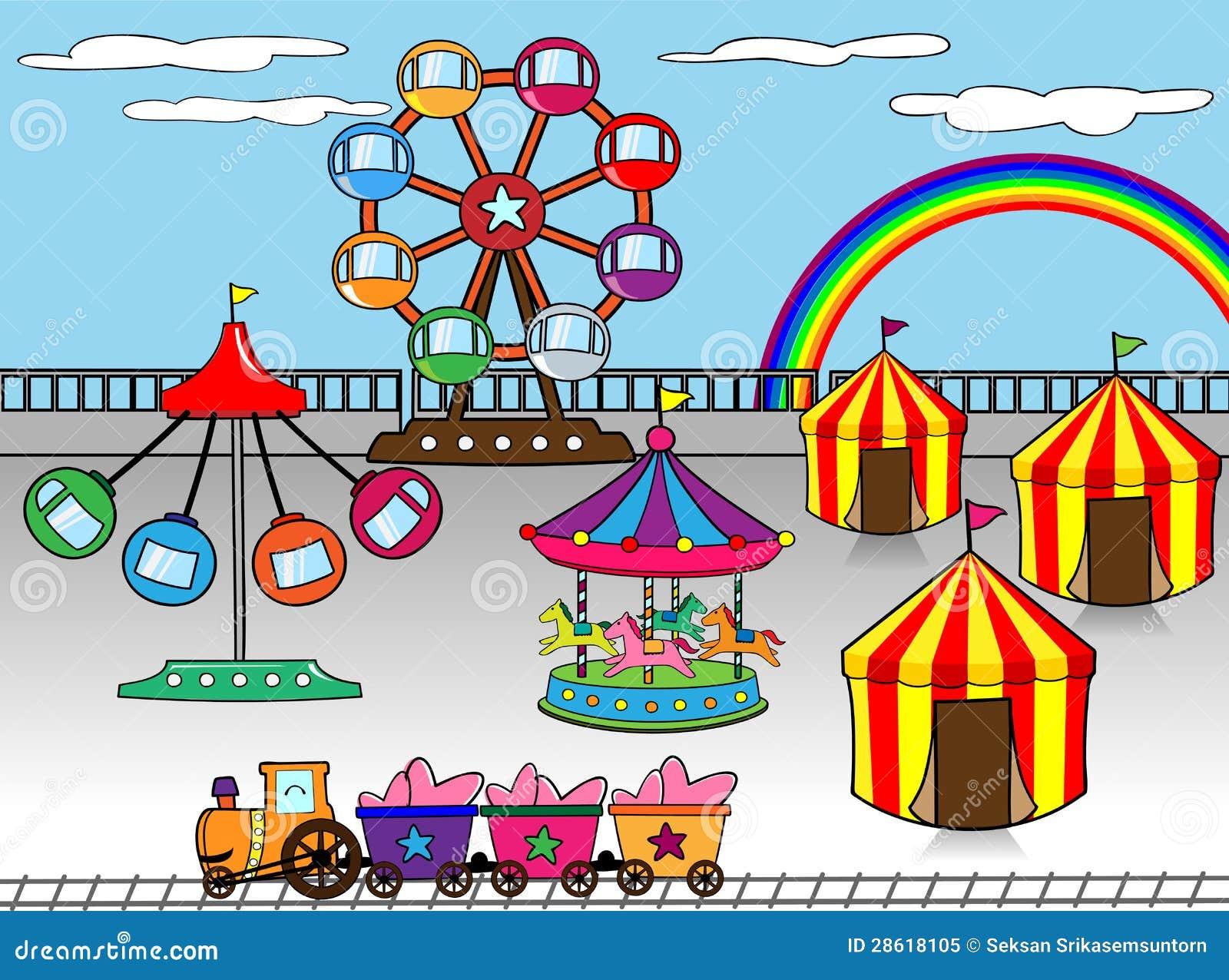 Amusement Park Royalty Free Stock Photo - Image: 28618105