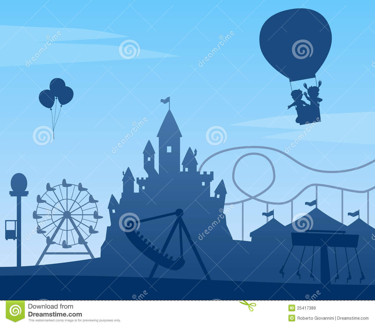 Amusement Park Background Royalty Free Stock Images