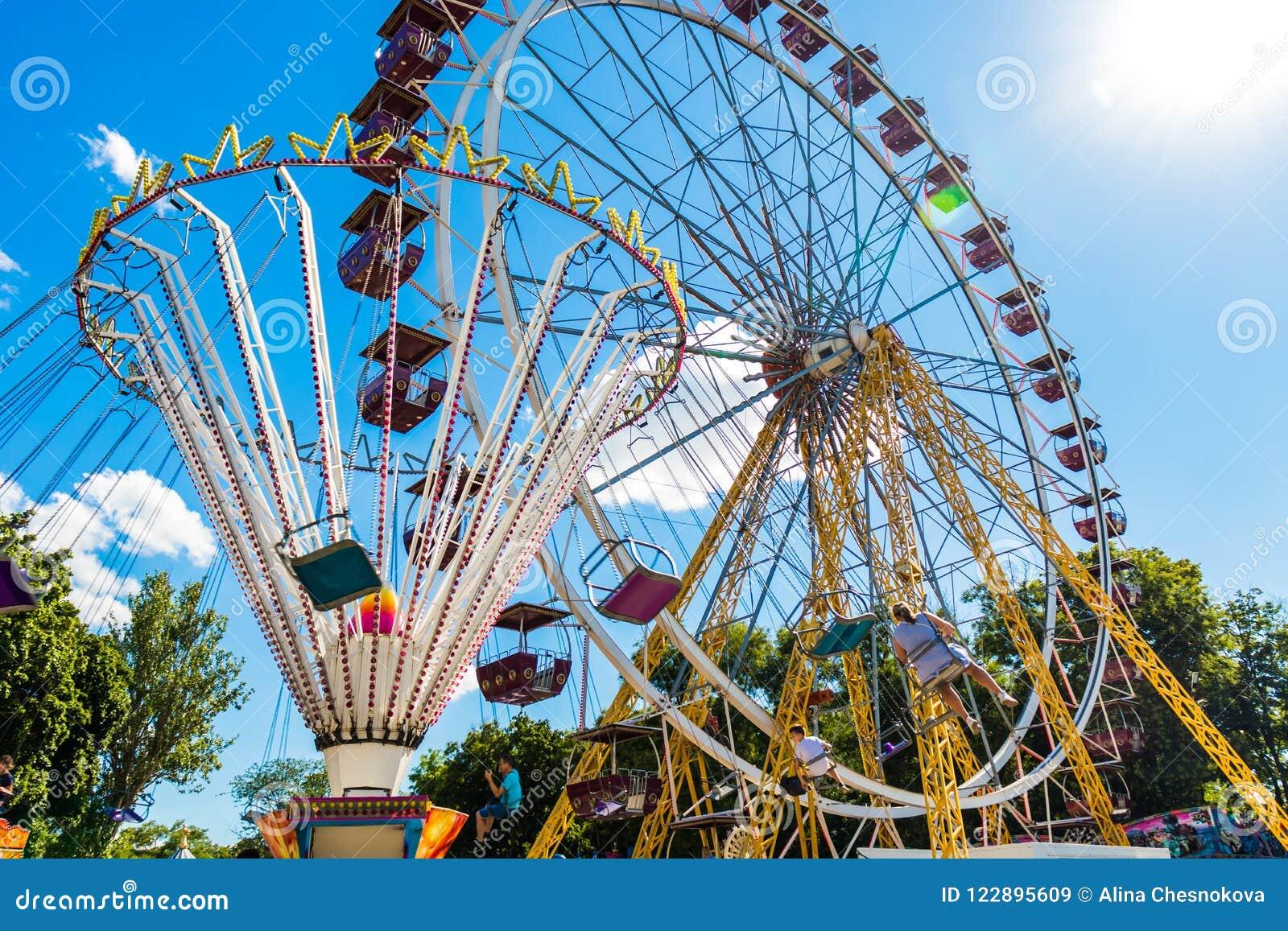 amusement-park-carousel-ferris-wheel-amu